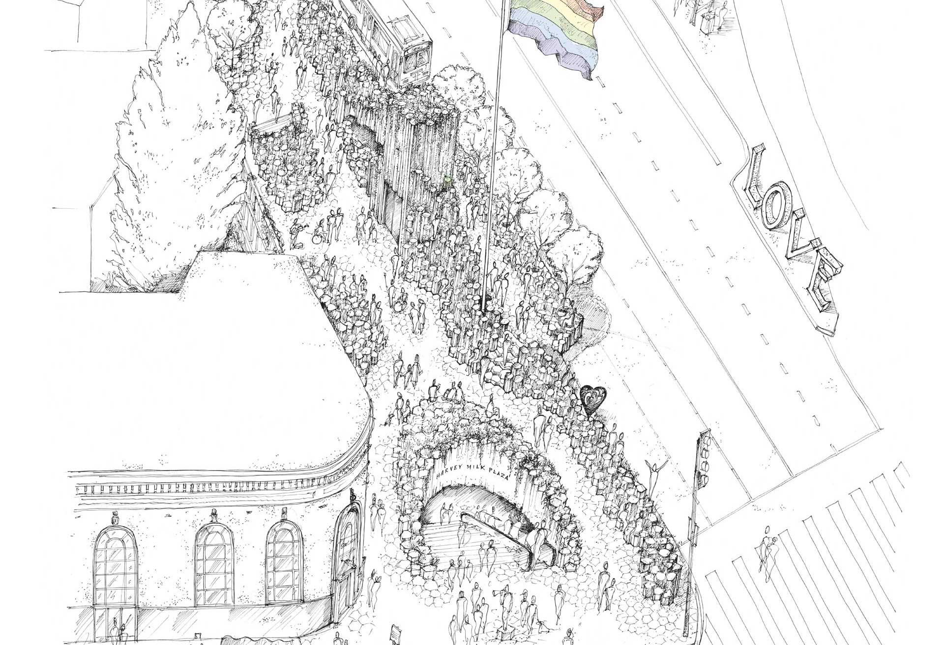 Siol Architects Harvey Milk Competition Sketch