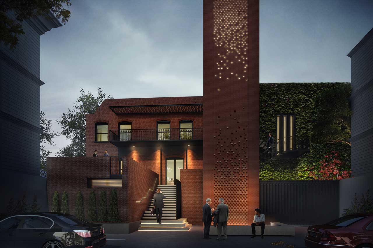 Siol Architects Masonic Lodge Exterior Rendering