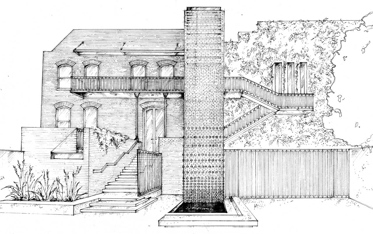 Siol Architects Masonic Lodge Sketch